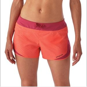 """Patagonia Strider Running Shorts 3"""" Hexy Oxide Red"""